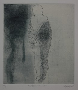 "Sensory Limitation (Etching and Chine Colle) 4 1/2"" x 3 3/4"""