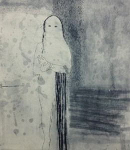 No Choice in What Remains (etching, drypoint and chine collie)
