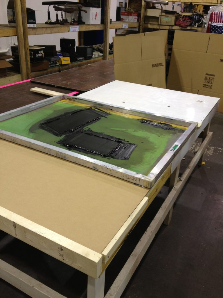 Silkscreening some large boxes (190 to be exact)