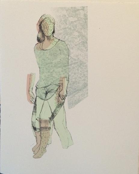 """Weight of Movement (8"""" x 10"""") silkscreen"""