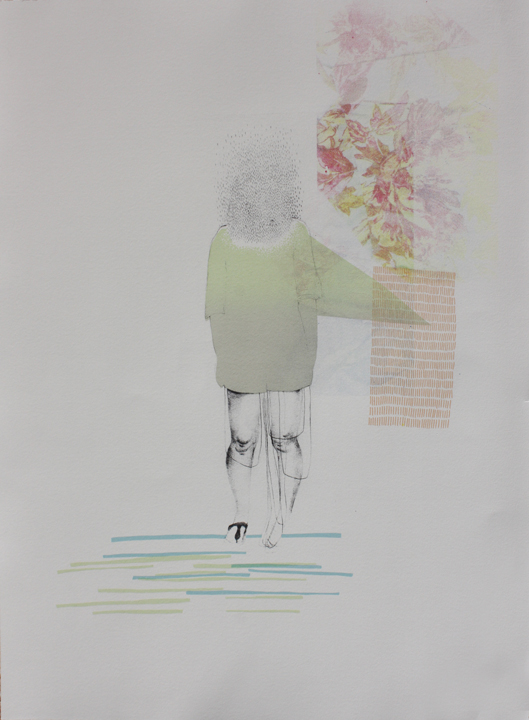 """Daily Task, Daily Forgetting (silkscreen, 30"""" x 15"""")"""